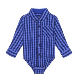 Andy and Evan Industries Gingham Blue/Blue Button-Down