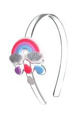 Lillies & Roses Headband Rainbow w/ Silver Clouds