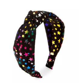 Bari Lynn Rainbow Stars Knot Headband