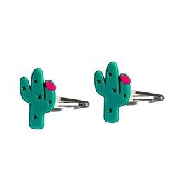 Lillies & Roses Hair Clip Cactus Snap