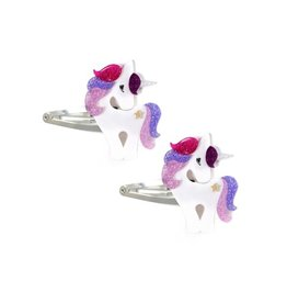 Lillies & Roses Hair Clip Unicorn Colorful Glitter Snap