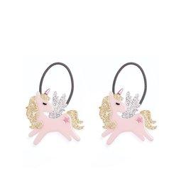 Lillies & Roses Ponytail Winged Unicorn Glitter Gold