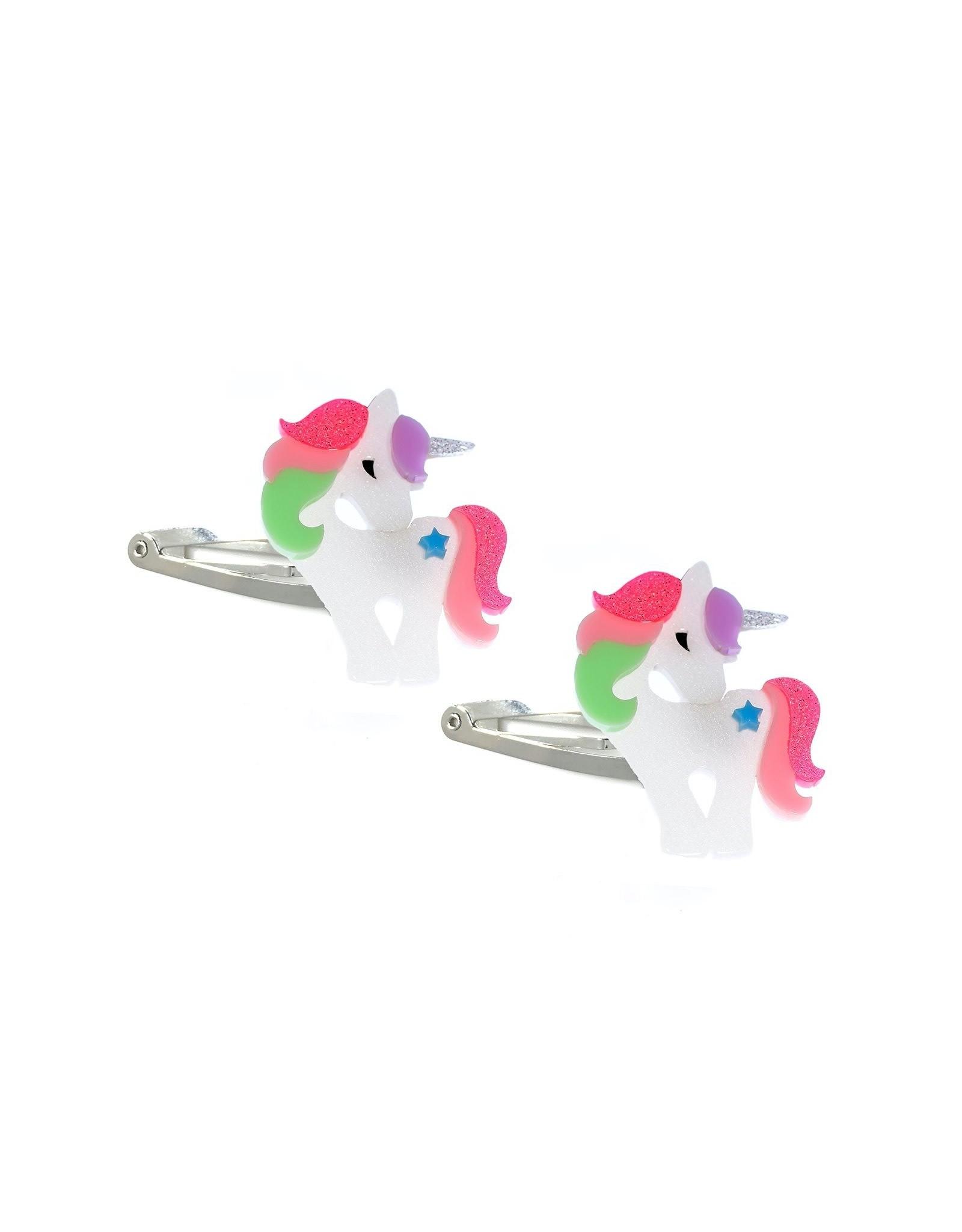 Lillies & Roses Hair Clip Unicorn Bright Pastel Snap
