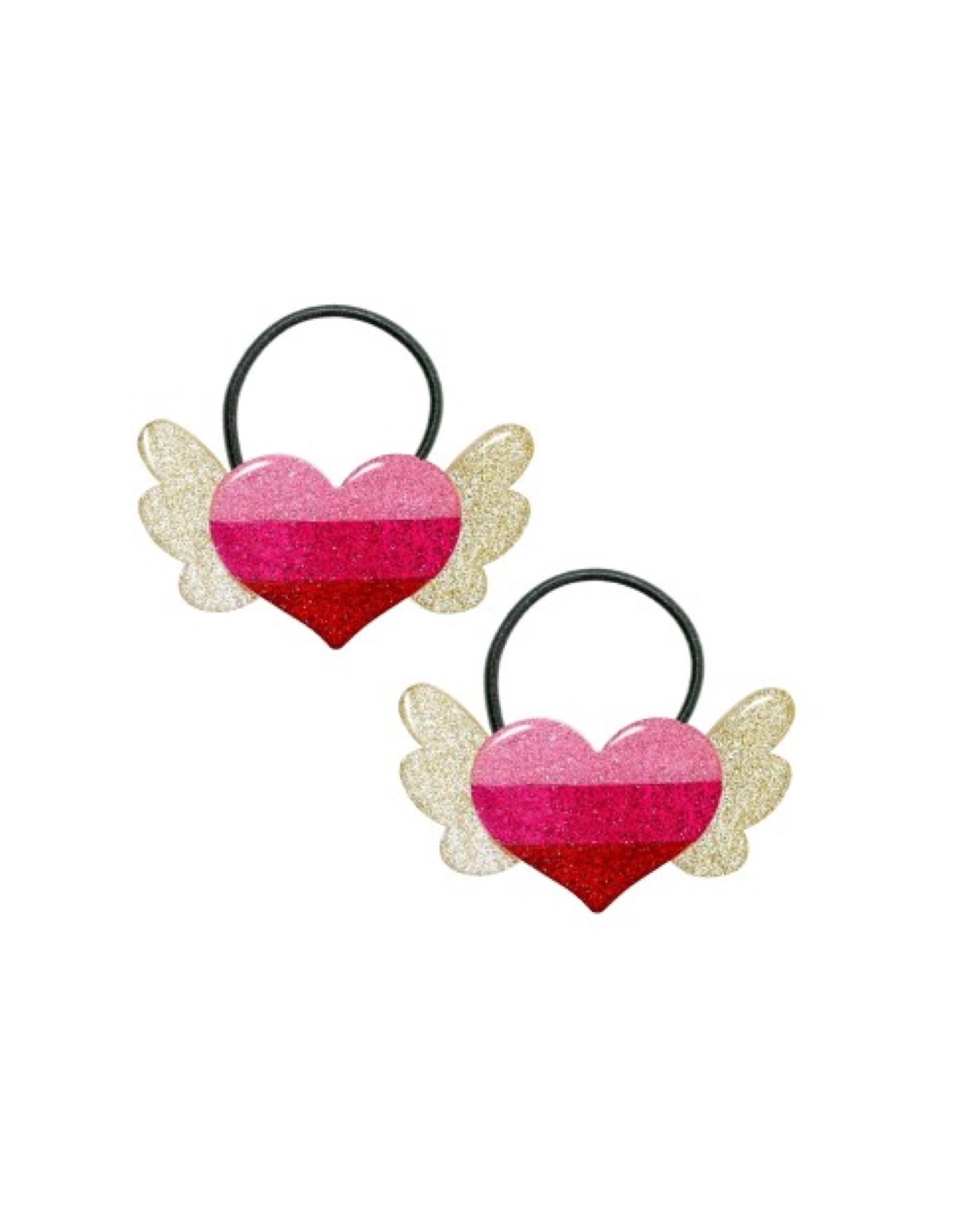 Lillies & Roses Ponytail Winged Heart