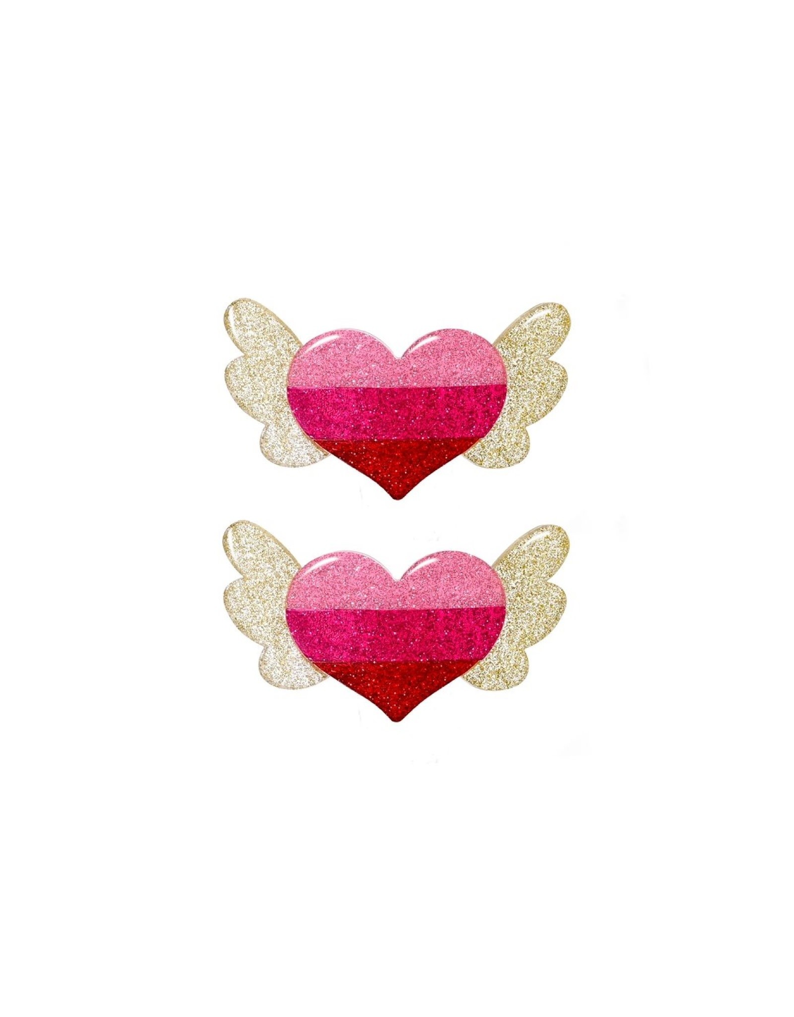 Lillies & Roses Hair Clip Winged Heart Alligator
