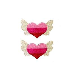 Lillies & Roses LR Hair Clip Winged Heart Alligator