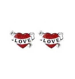 Lillies & Roses LR Hair Clip Vintage Heart Alligator