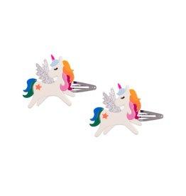 Lillies & Roses Hair Clip Winged Unicorn Rainbow Snap