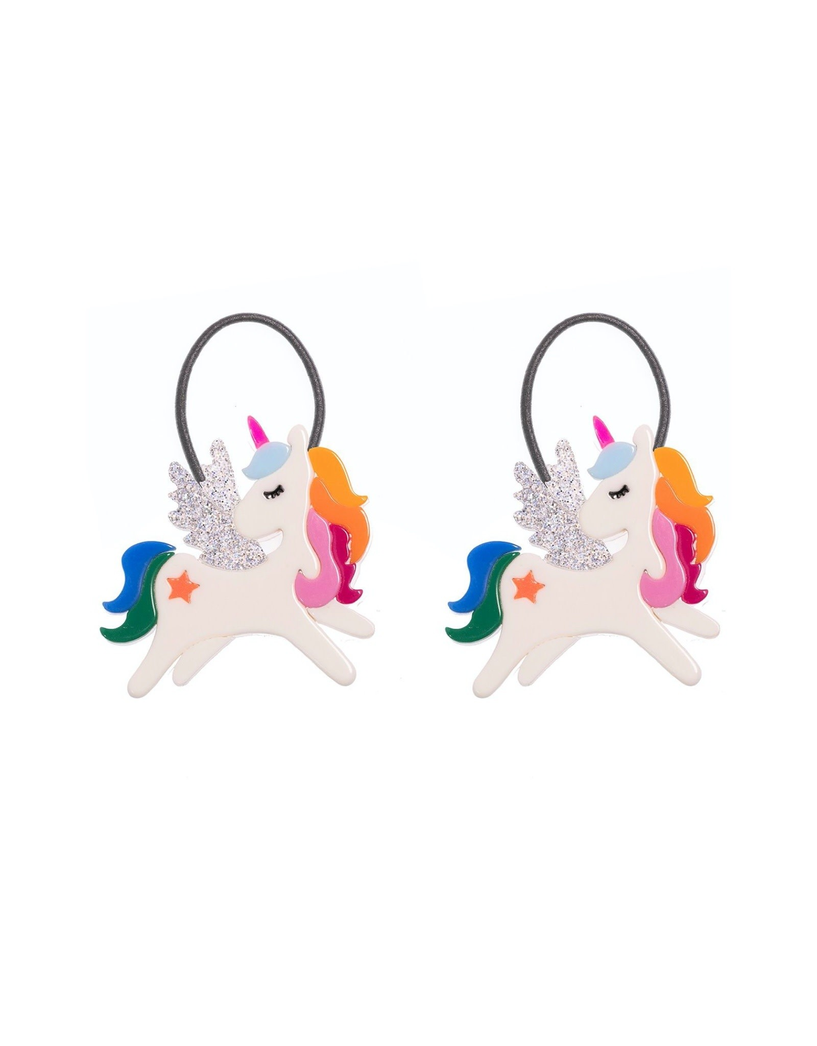 Lillies & Roses Ponytail Winged Unicorn Rainbow
