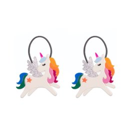 Lillies & Roses LR Ponytail Winged Unicorn Rainbow