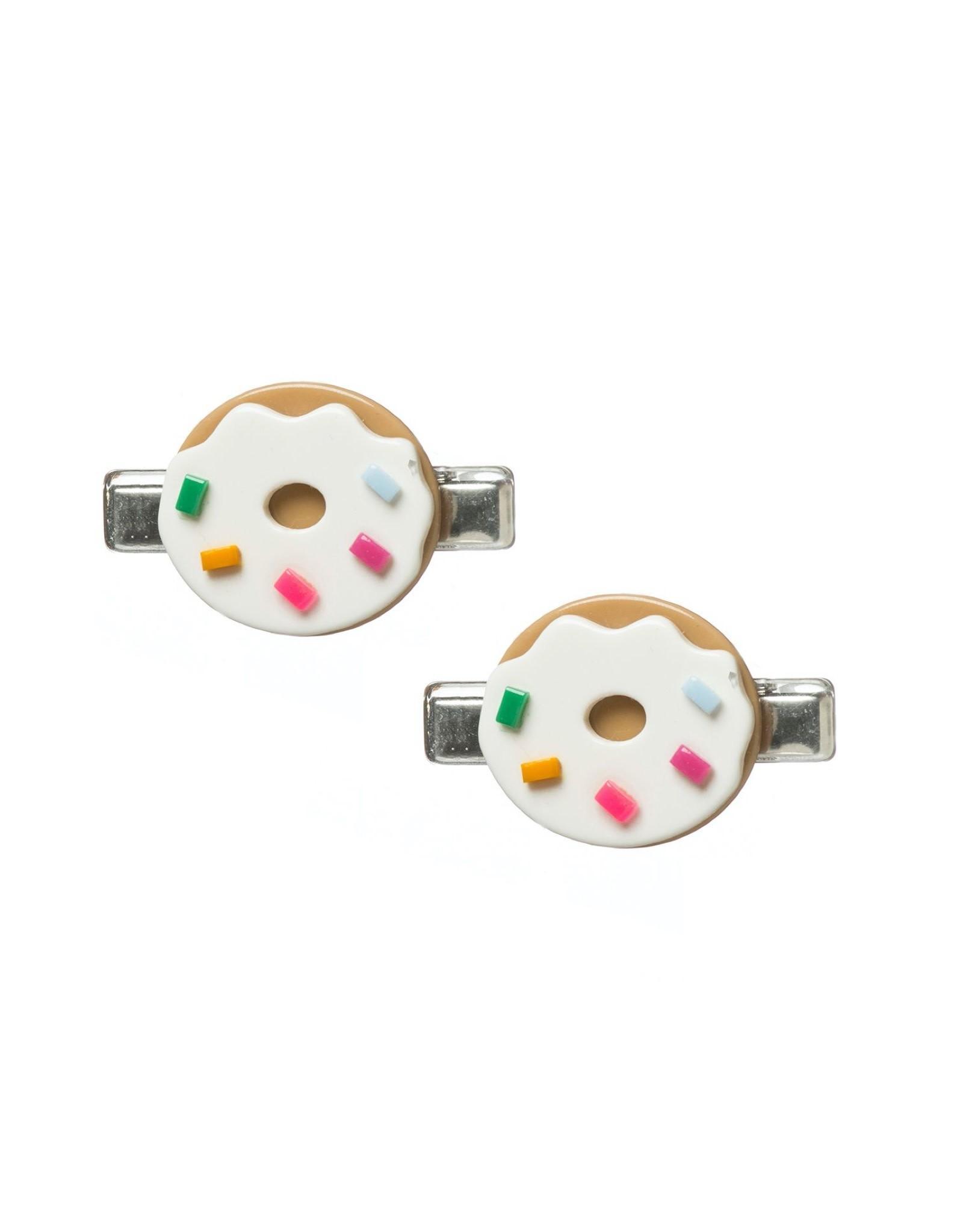 Lillies & Roses Hair Clip Donut Cream Alligator