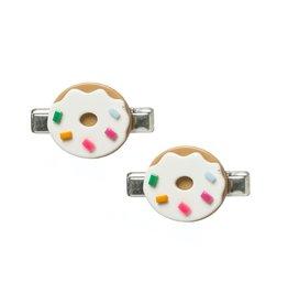 Lillies & Roses LR Hair Clip Donut Cream Alligator