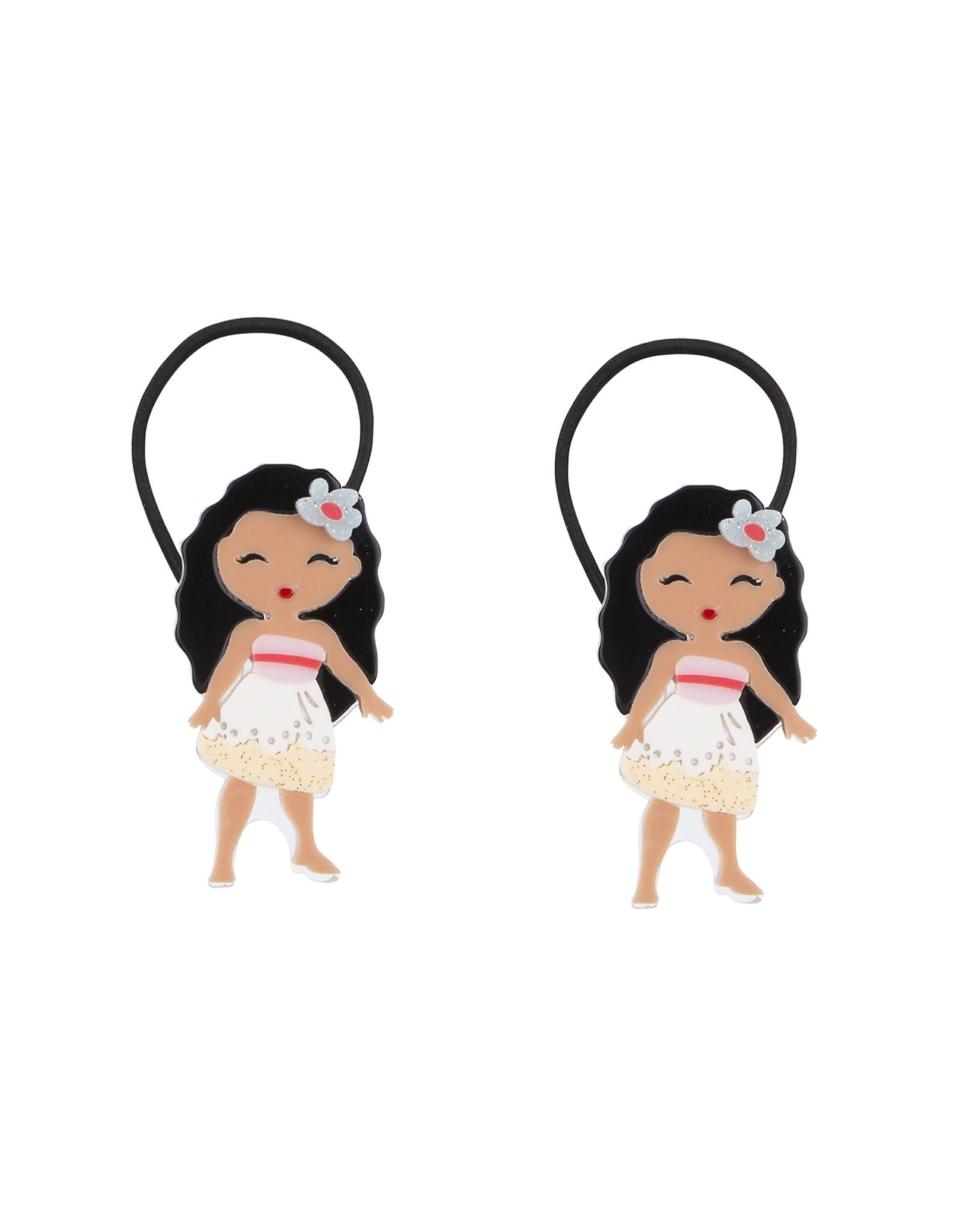 Lillies & Roses Pony Tail Cute Doll Luau