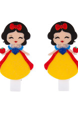 Lillies & Roses Hair Clip Cute Doll with Apple Snap