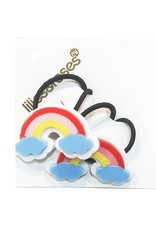 Lillies & Roses Ponytail Rainbow w/ Blue Clouds