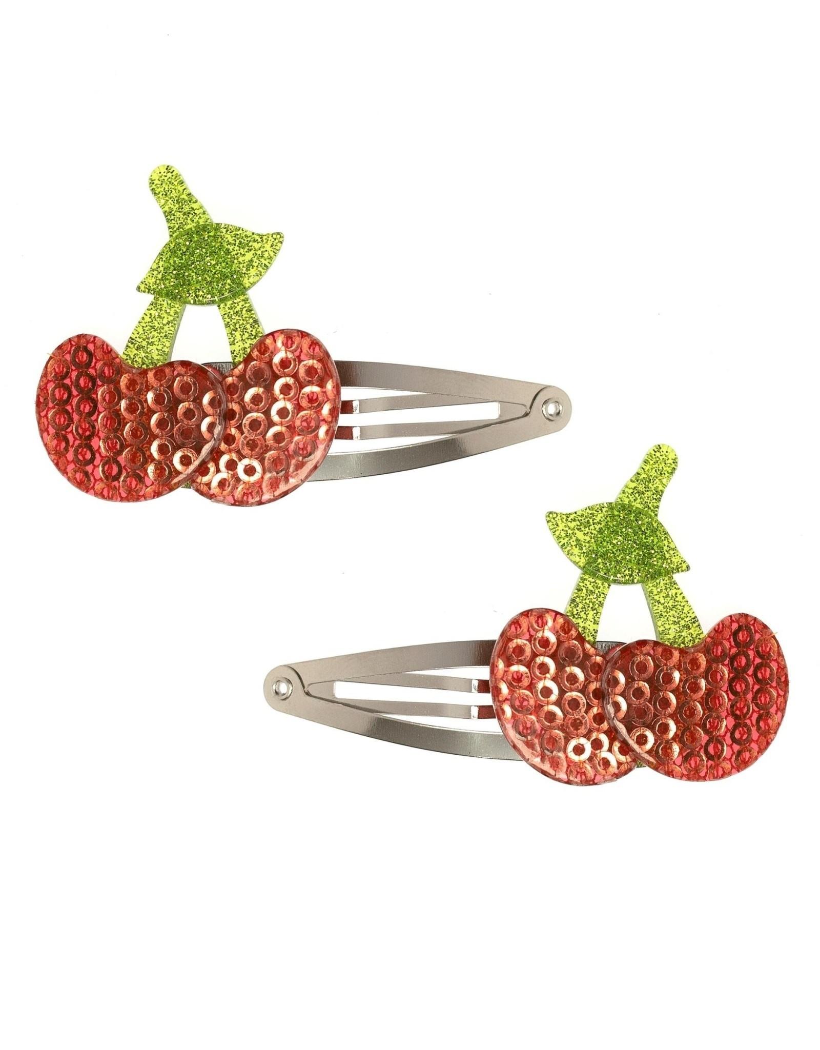 Lillies & Roses Hair Clip Cherry Snap