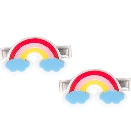 Lillies & Roses Hair Clip Rainbow w/ Blue Clouds Alligator