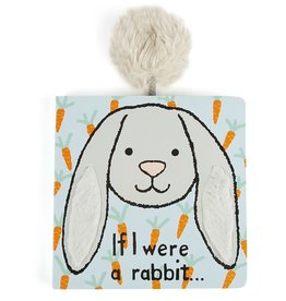 Jelly Cat JC If I Were a Rabbit Book Grey