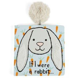 Jellycat If I Were a Rabbit Book Grey