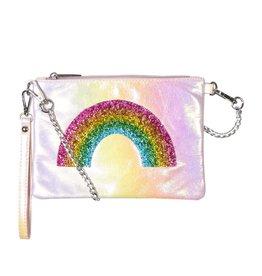 Bari Lynn Rainbow Iridescent Wristlet