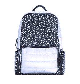 Bari Lynn Black & Silver Stars Backpack