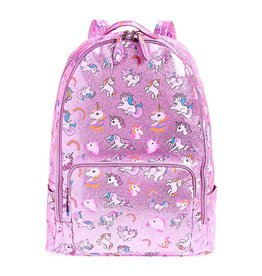 Bari Lynn Bari Lynn Metallic Pink Unicorn Backpack