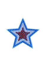 Sticker Beans Red White Blue Star