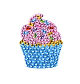 Sticker Beans Pink Cupcake