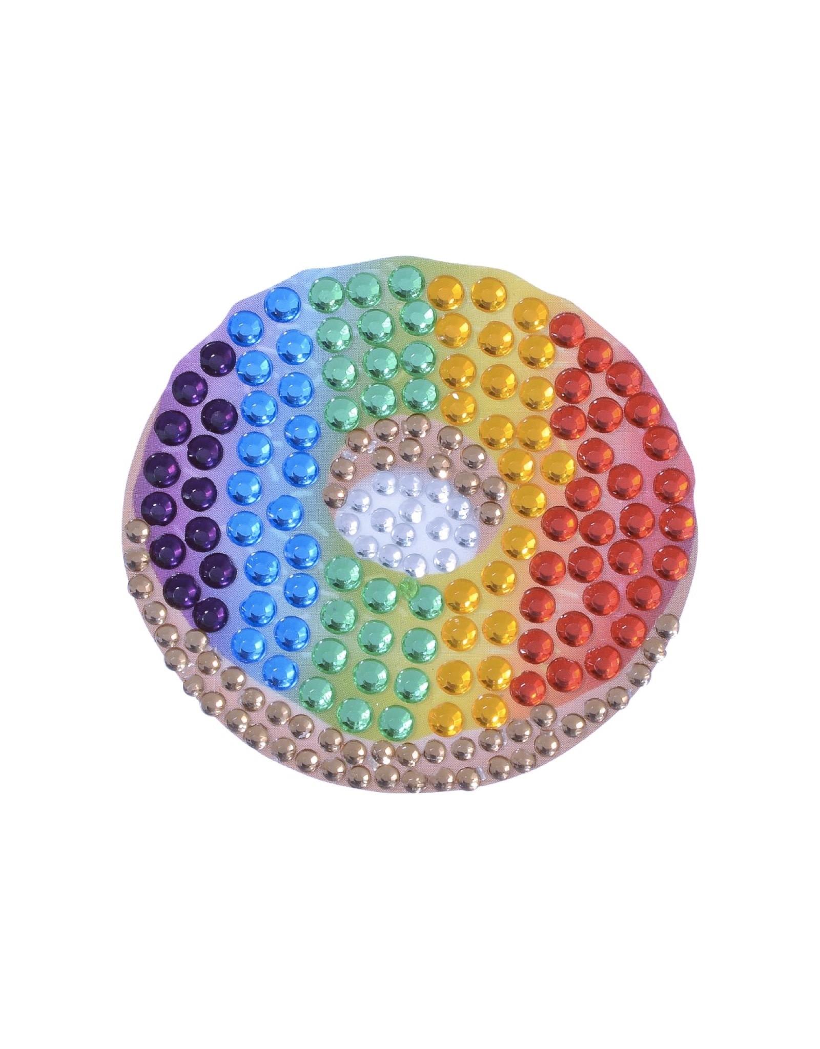 Sticker Beans Rainbow Gradient Donut