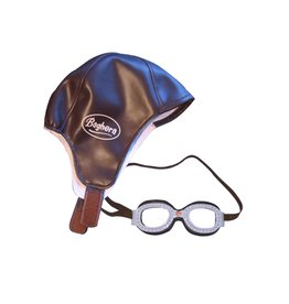 Playforever Vintage Racing Cap and Goggles