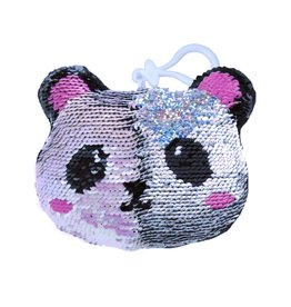 Iscream Mini Sequin Panda Squishes Keychain