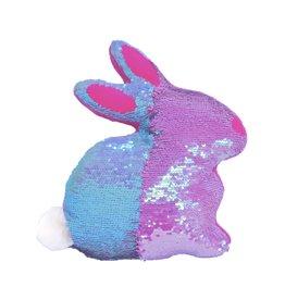 Iscream Reversible Sequin Bunny Pillow