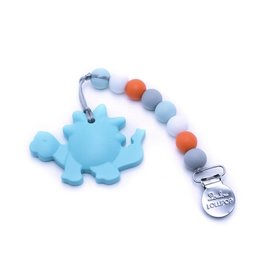 Lou Lou Lollipop Dino Teether Aqua