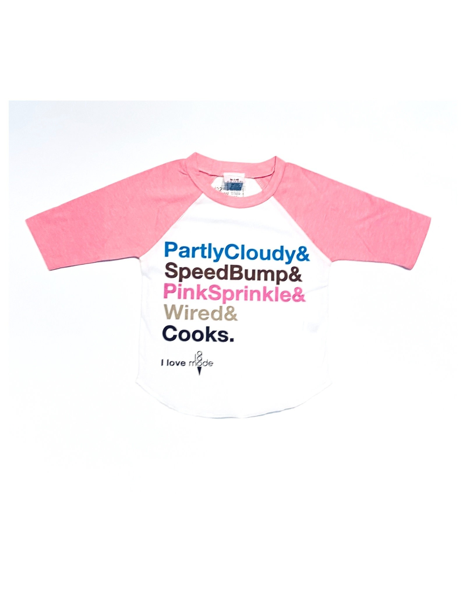 Kid crush I Love A La Mode Shoppe Kids Shirt Pink