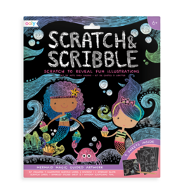 OOLY Scratch & Scribble Art Kit: Mermaid Magic