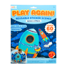 OOLY Play Again! Reusable Sticker: Space Critters