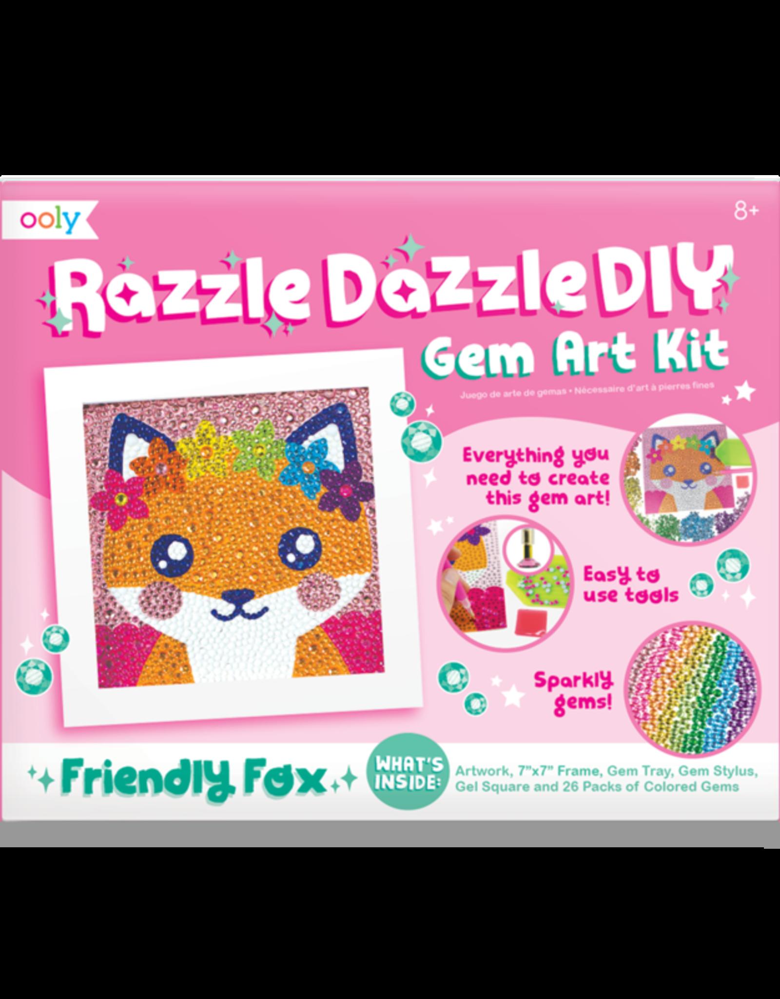 OOLY Razzle Dazzle D.I.Y. Gem Art Kit: Friendly Fox