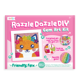 OOLY Razzle Dazzle D.I.Y. Gem Art Kit: Friendly Fox