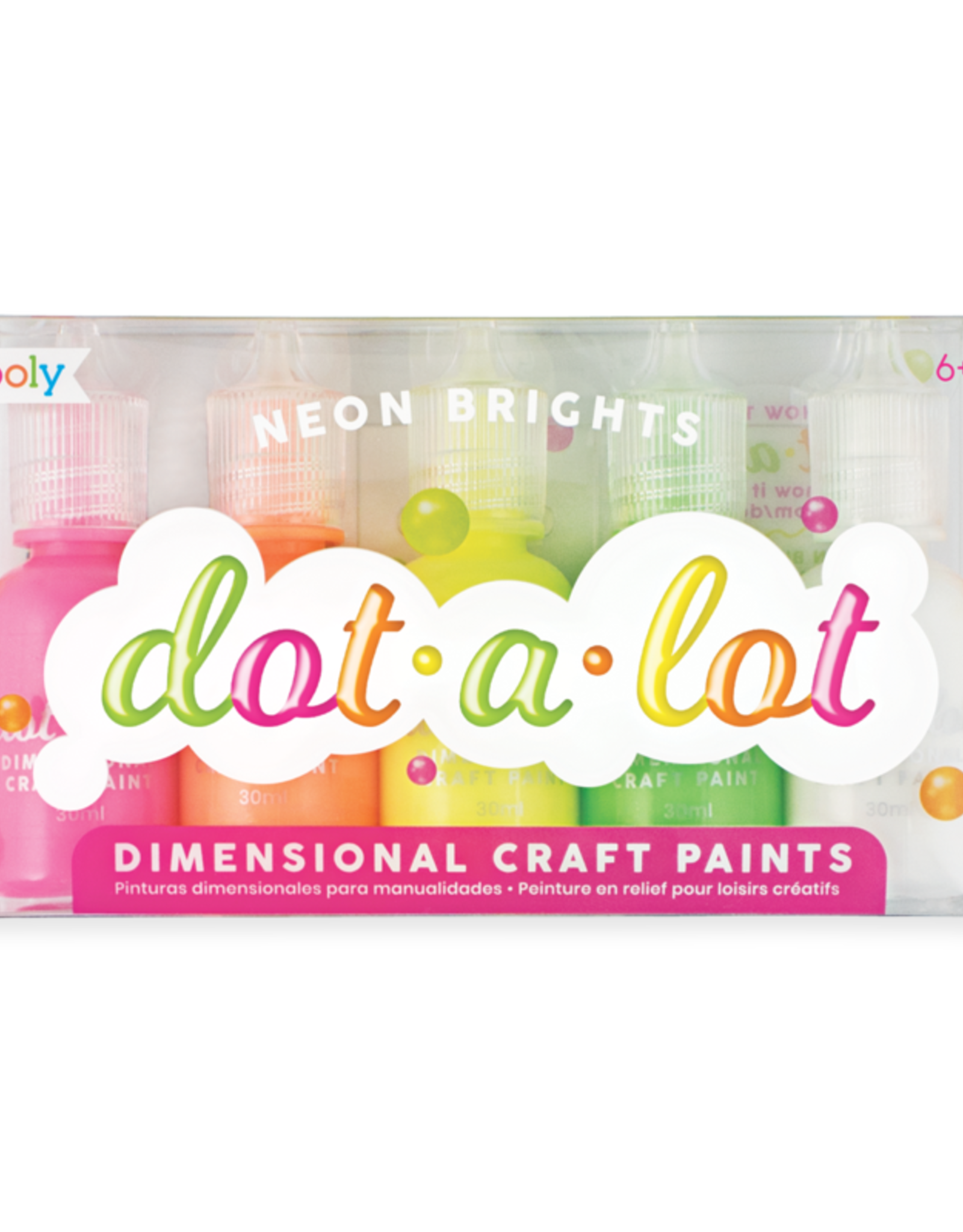 OOLY Dot-A-lot Neon Brights Craft Paint