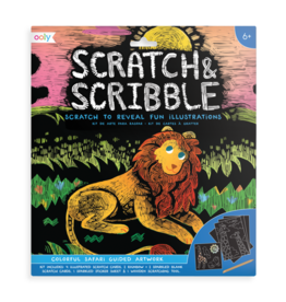 OOLY Scratch & Scribble: Colorful Safari
