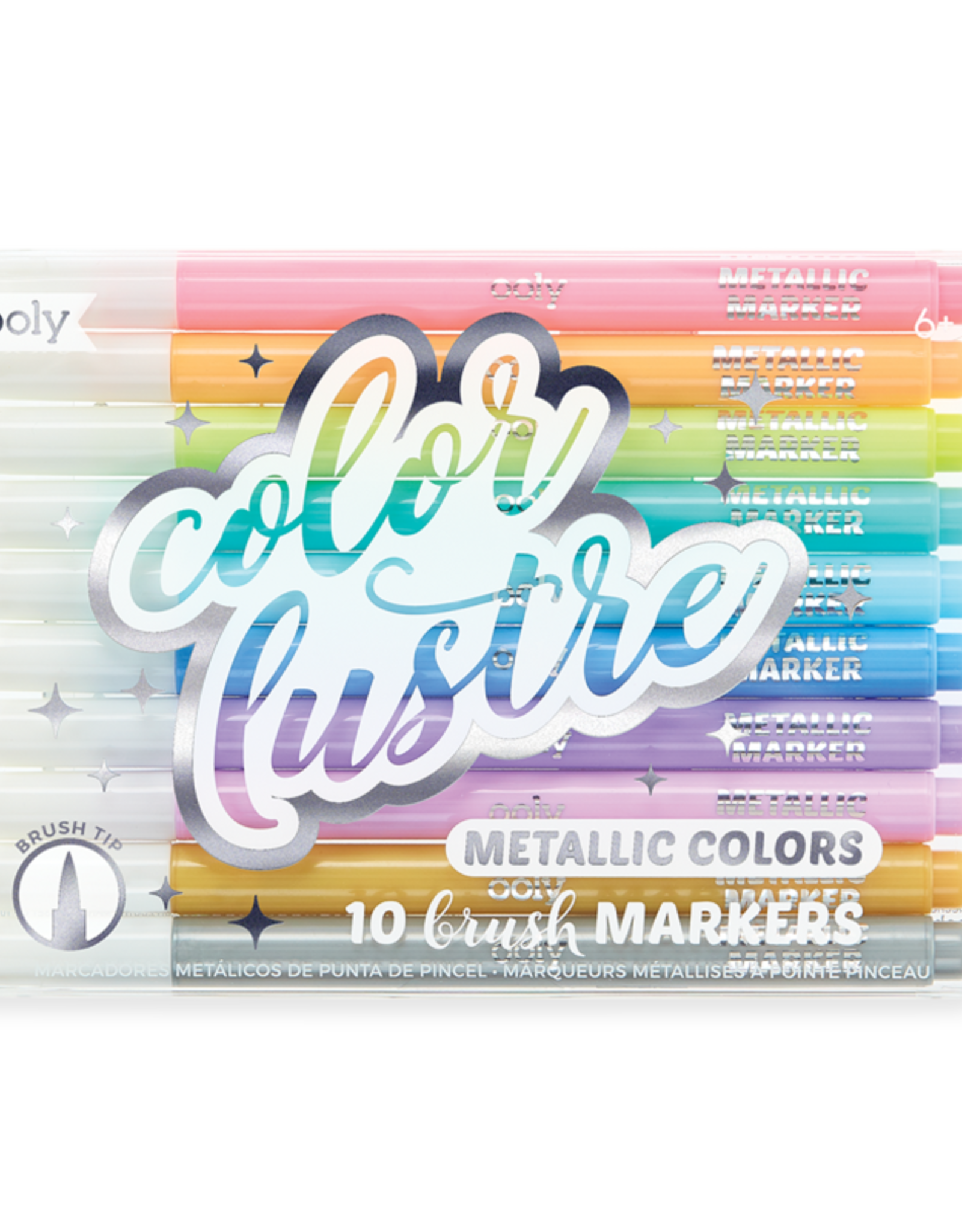 OOLY Color Lustre Metallic Brush Markers