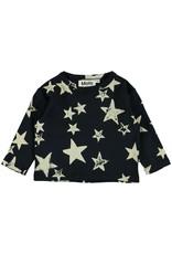 Molo Elvo White Navy Star T Shirt