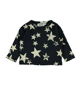 Molo Elvo White Navy Star T Shirt