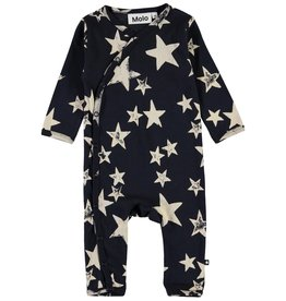 Molo Fellow White Navy Star Jersey Bodysuit
