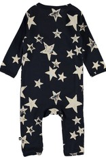 Molo Fellow White Navy Star Jersey Bodysuit