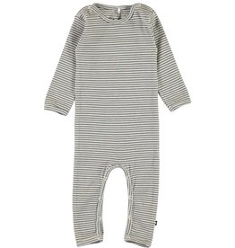 Molo Fenez White & Brown Stripe Jersey Bodysuit