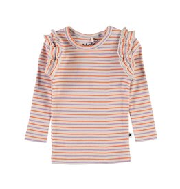 Molo Emma Purple Orange Stripe Shirt