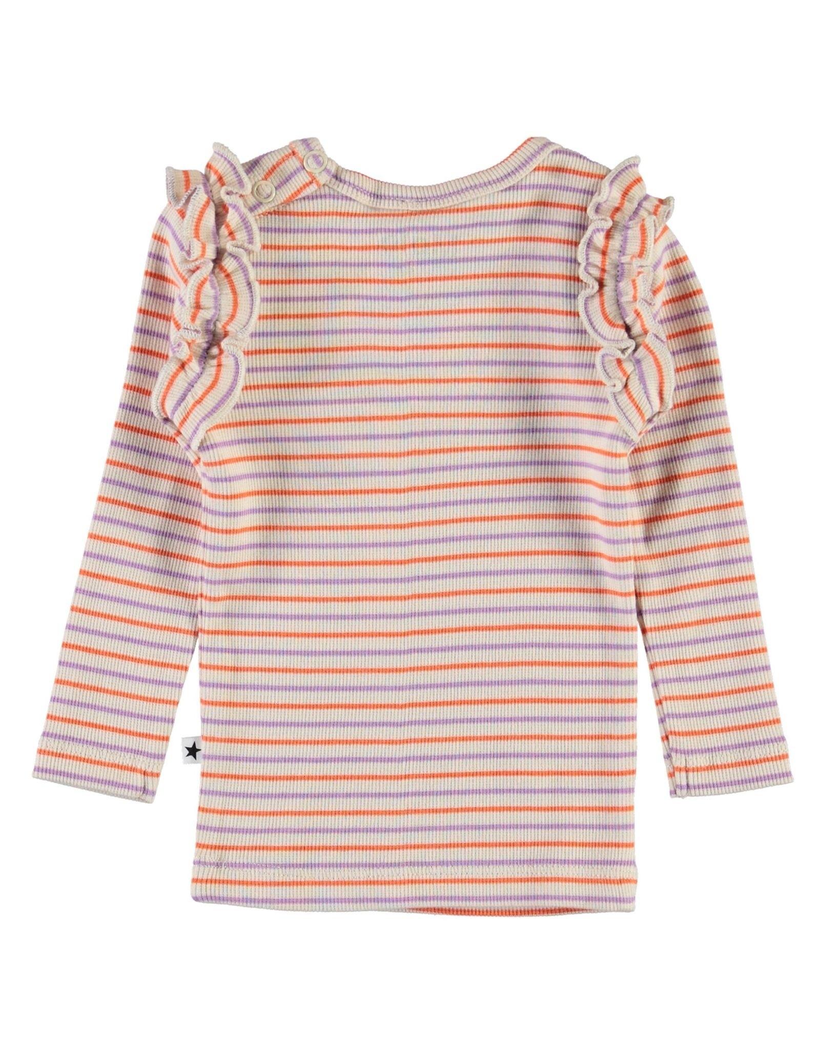 Molo Emma Purple Orange Stripe Shirt