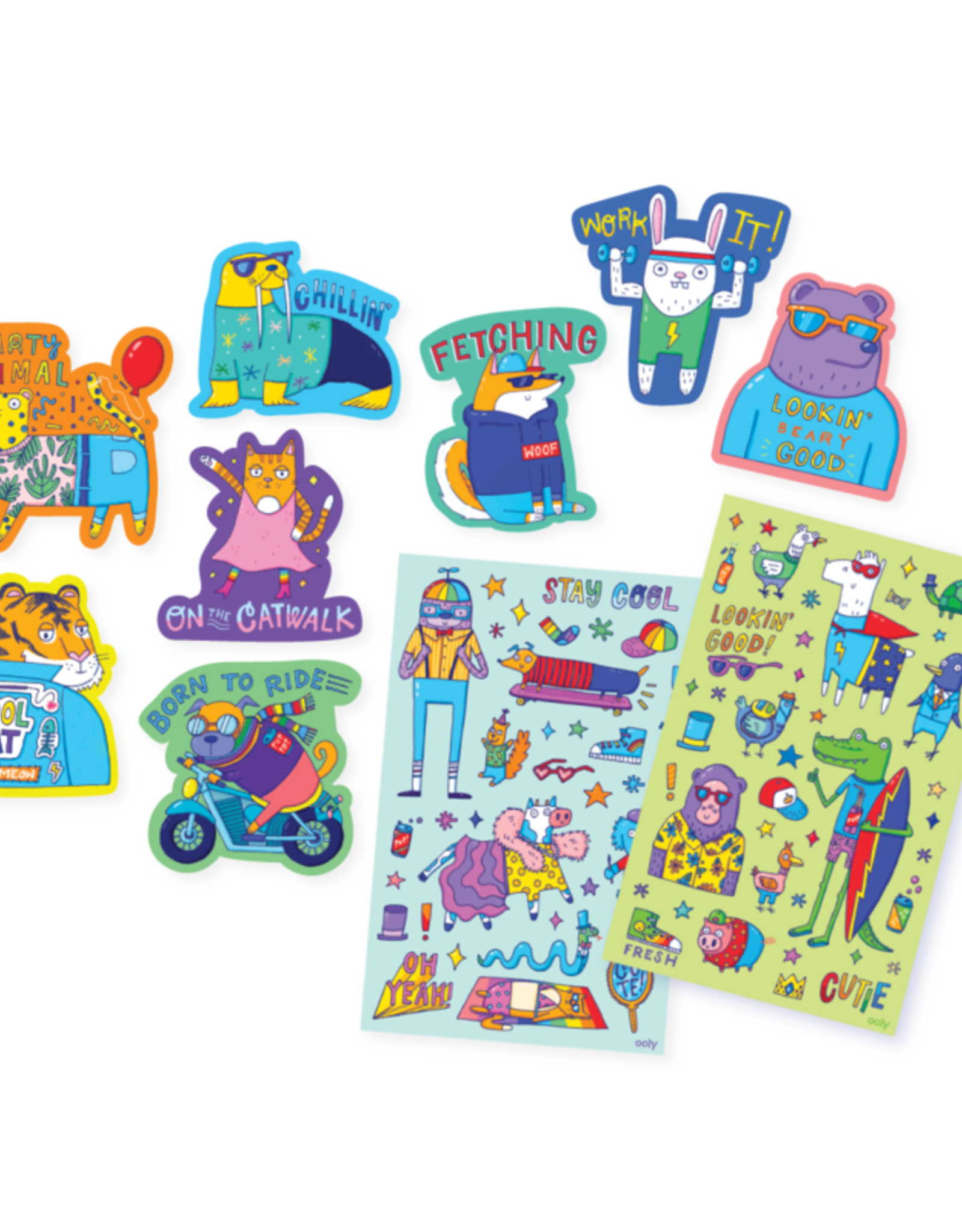 OOLY Scented scratch sticker: Dressed to Impress