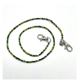Bari Lynn Bari Lynn Green Beaded Face Covering Necklace
